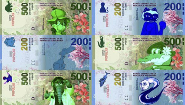 El Banco Central presentó nuevos billetes y los memes no tardaron en aparecer