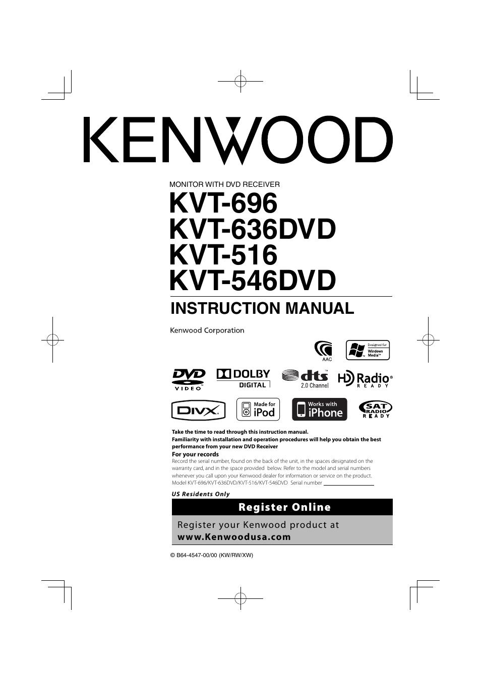 34 Kenwood Kvt 516 Wiring Diagram