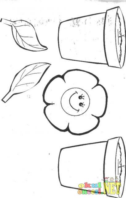 Saksıda çiçek Boyama Gazetesujin