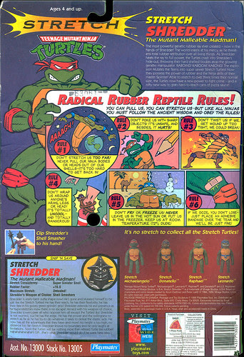 TMNT - 'Stretch Shredder' backer ii (1996)