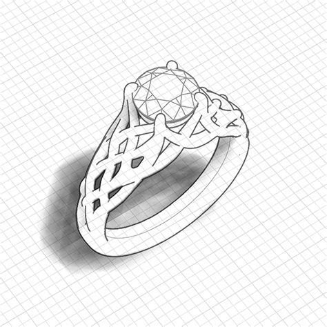 Woven Engagement Ring   Jewelry Designs