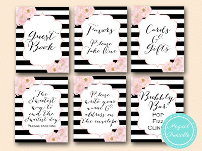 Wedding Signs Bridal Shower Signs Baby Shower Signs Magical