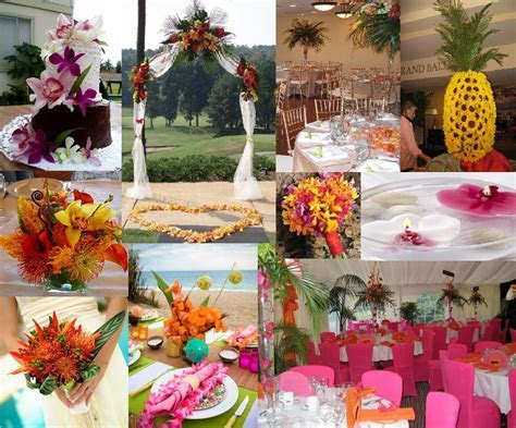 Tropical Themed Wedding Pics   All Inclusive Wedding