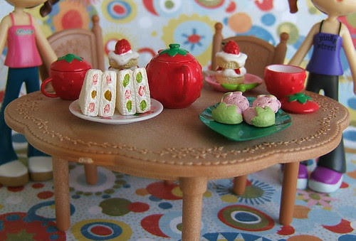Re-ment strawberry themed food