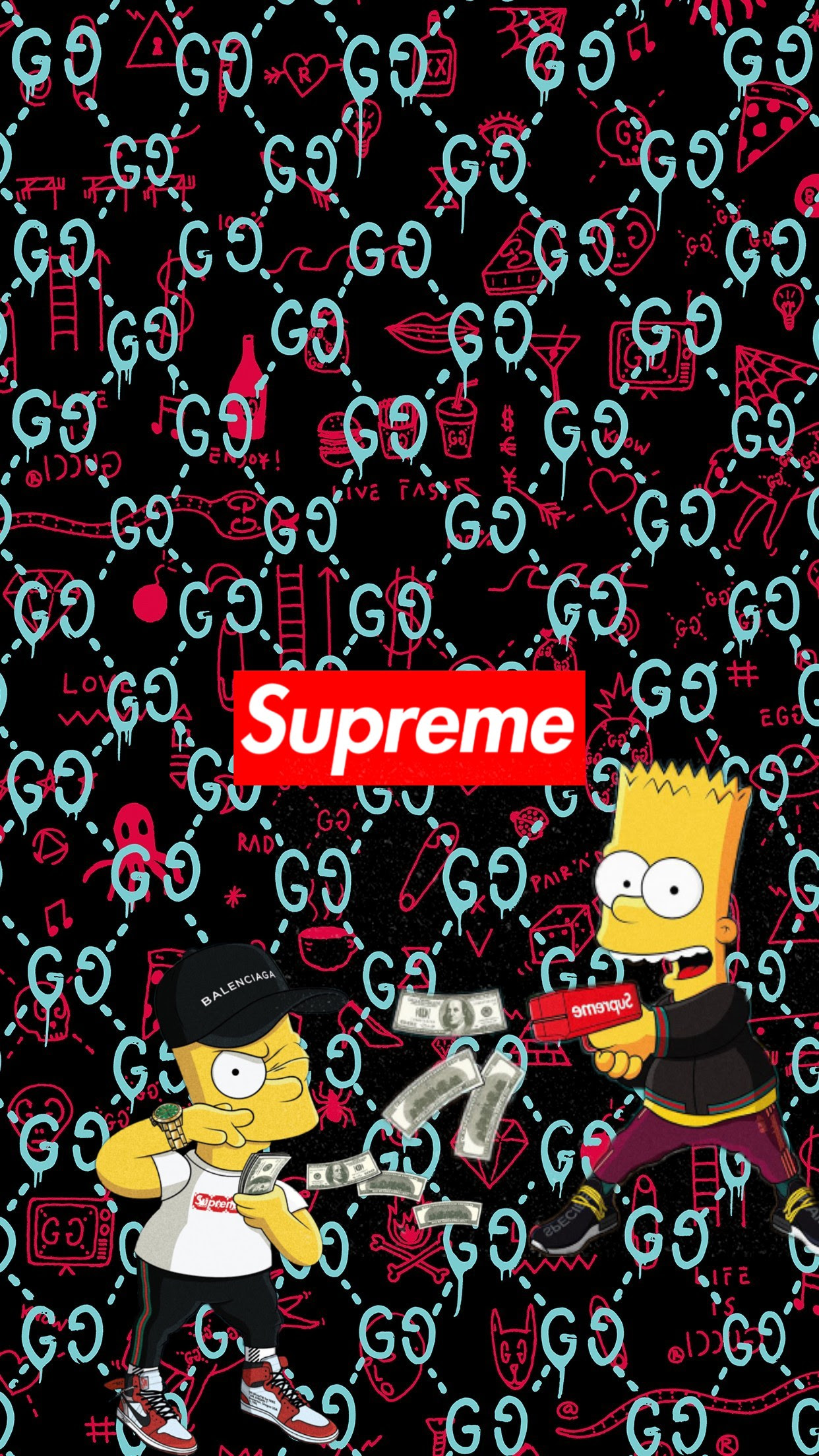 supreme bape simpsons - Image by adellah048