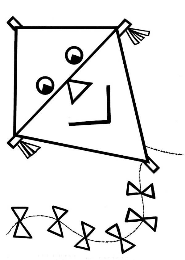 Kite Coloring Pages   Clipart Panda - Free Clipart Images