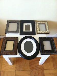 Mixed Lot Picture Frames Black Brown 4 X 6 5 X 7 6 Frames Round