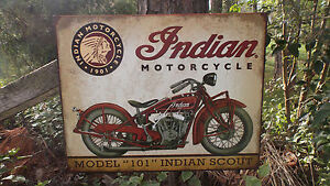 Rustic Tin  rustic signs advertising Decor Advertising Motorcycle Sign Wall Advertising Scout
