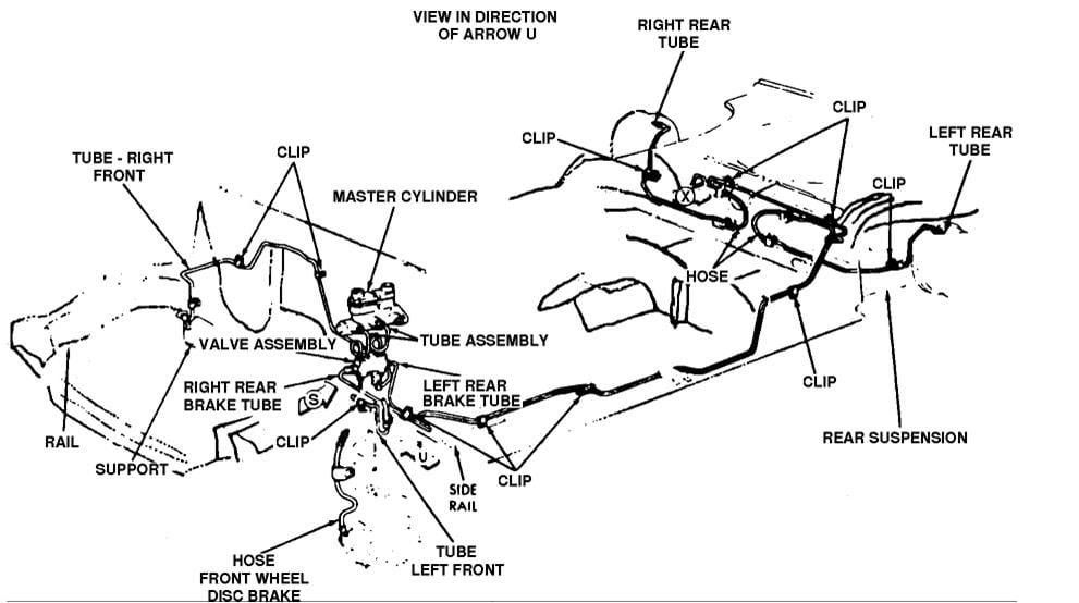 1999 Ford f250 brake line diagram