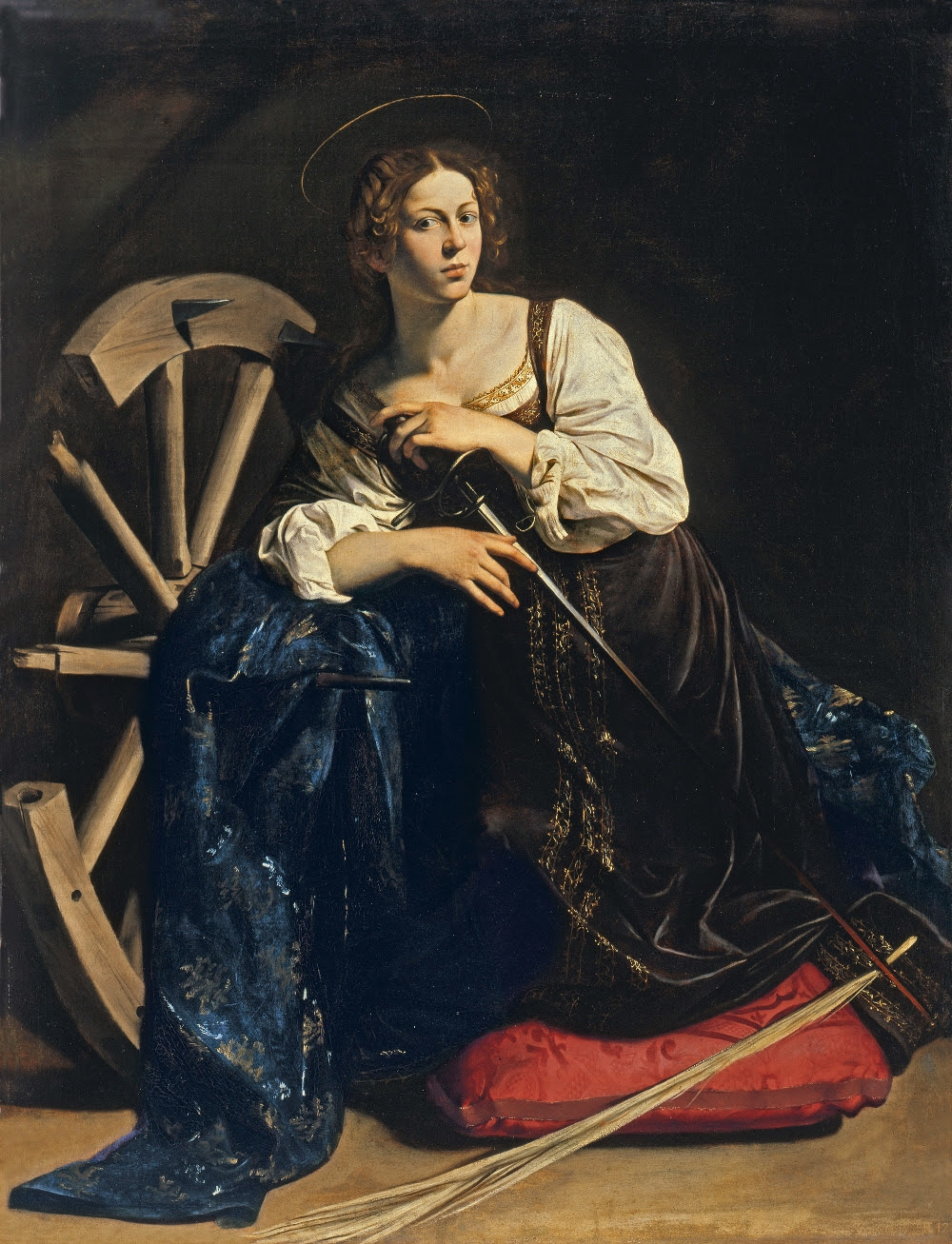 Η Αικατερίνη της Αλεξανδρείας, έργο του Ιταλού καλλιτέχνη του μπαρόκ, του Καραβάτζιο