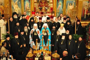 Historic concelebration of the Divine Liturgy by OCA Metropolitan Jonah, ROCOR Metropolitan Hilarion