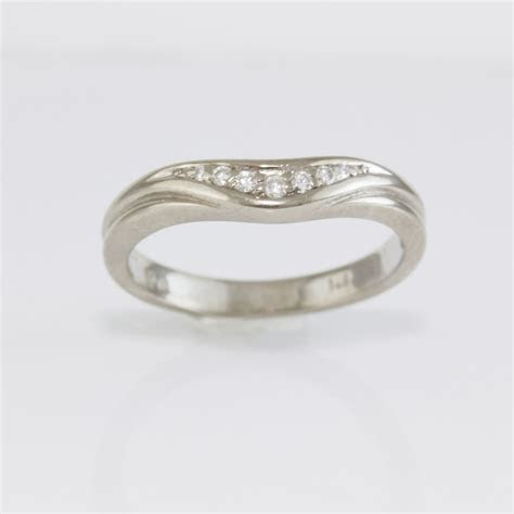 Curved Wedding Ring   Specialists in Custom Wedding