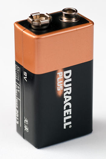 English: A Durcell 9-Volt battery.