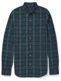 J.crew Slim-fit Button Down-collar Checked Cotton Shirt