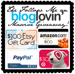 The Follow Me on Bloglovin Massive Giveaway Button