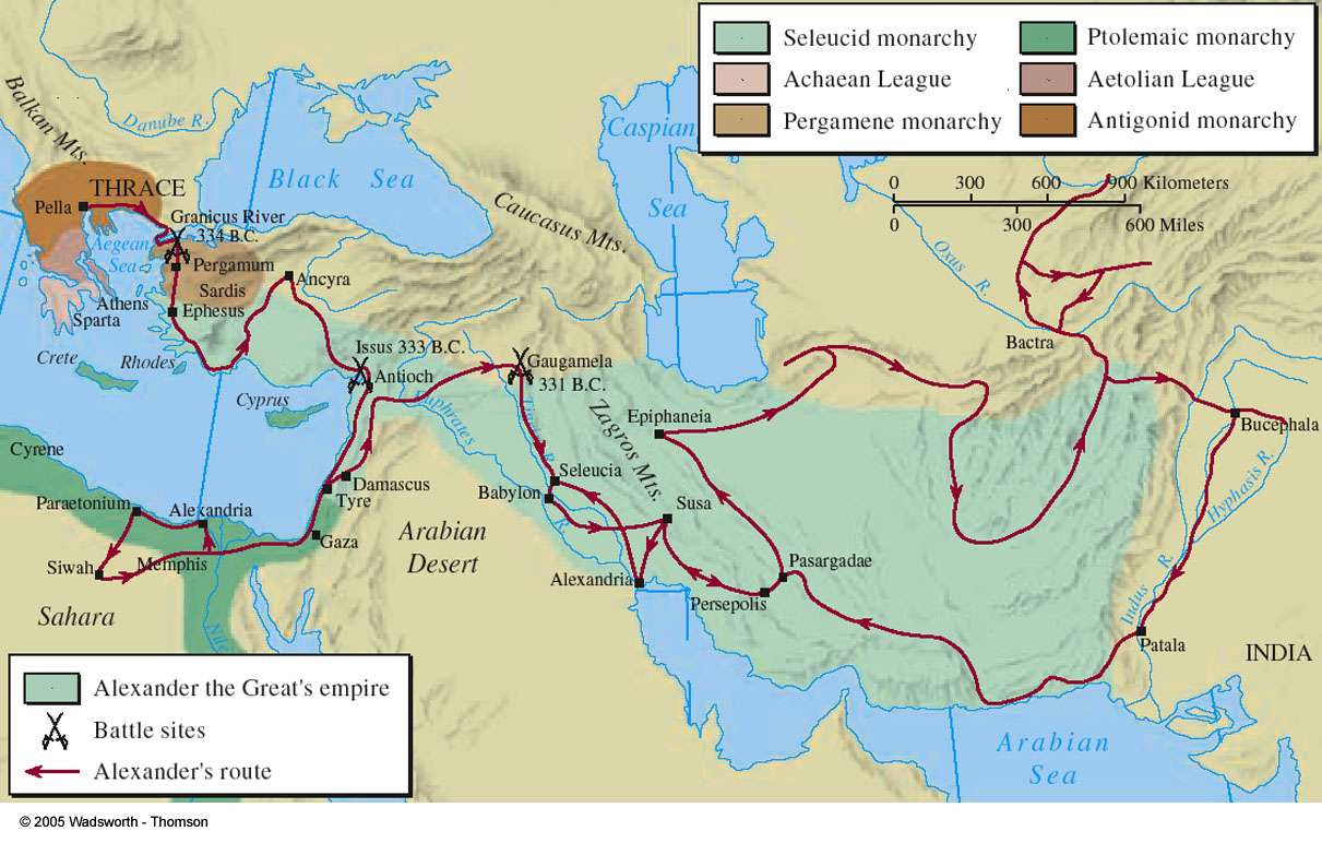 Η αυτοκρατορία του Μεγαλέξανδρου