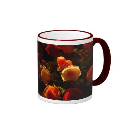 Roses I - Orange, Red and Gold Glory Mugs