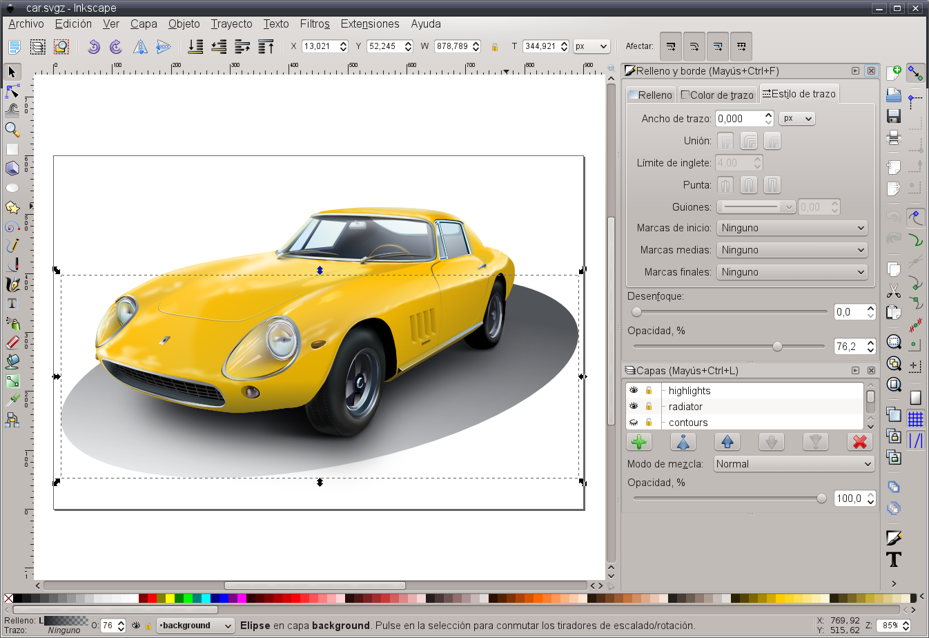 imágenes dibujo inkscape