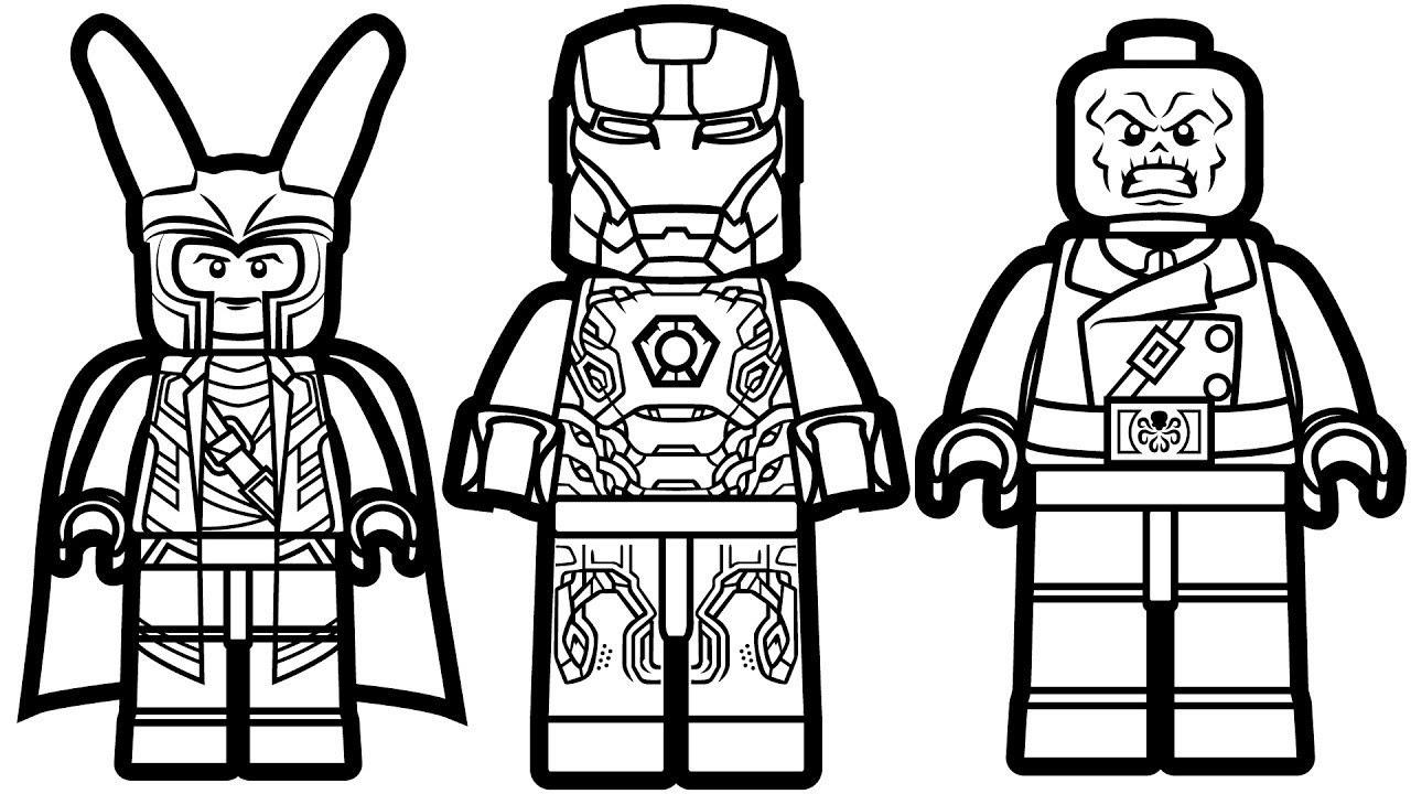 Ausmalbilder Lego Iron Man - Kostenlos zum Ausdrucken