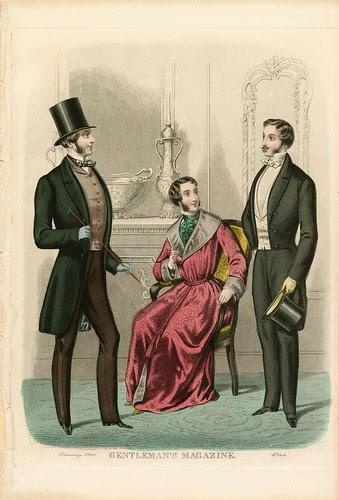 Gentlemen's fashions, Winter 1856