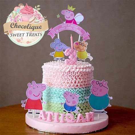 Peppa Pig Cake for Atiiqah ? Chocolique