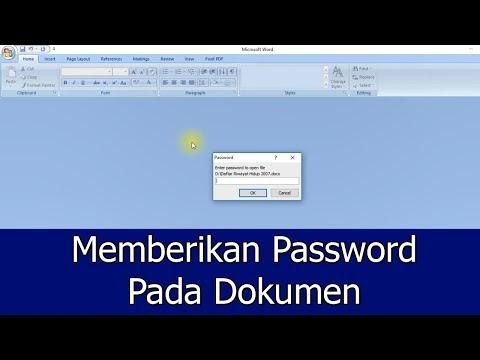 Cara Memberi Password pada Microsoft Office Word 2007