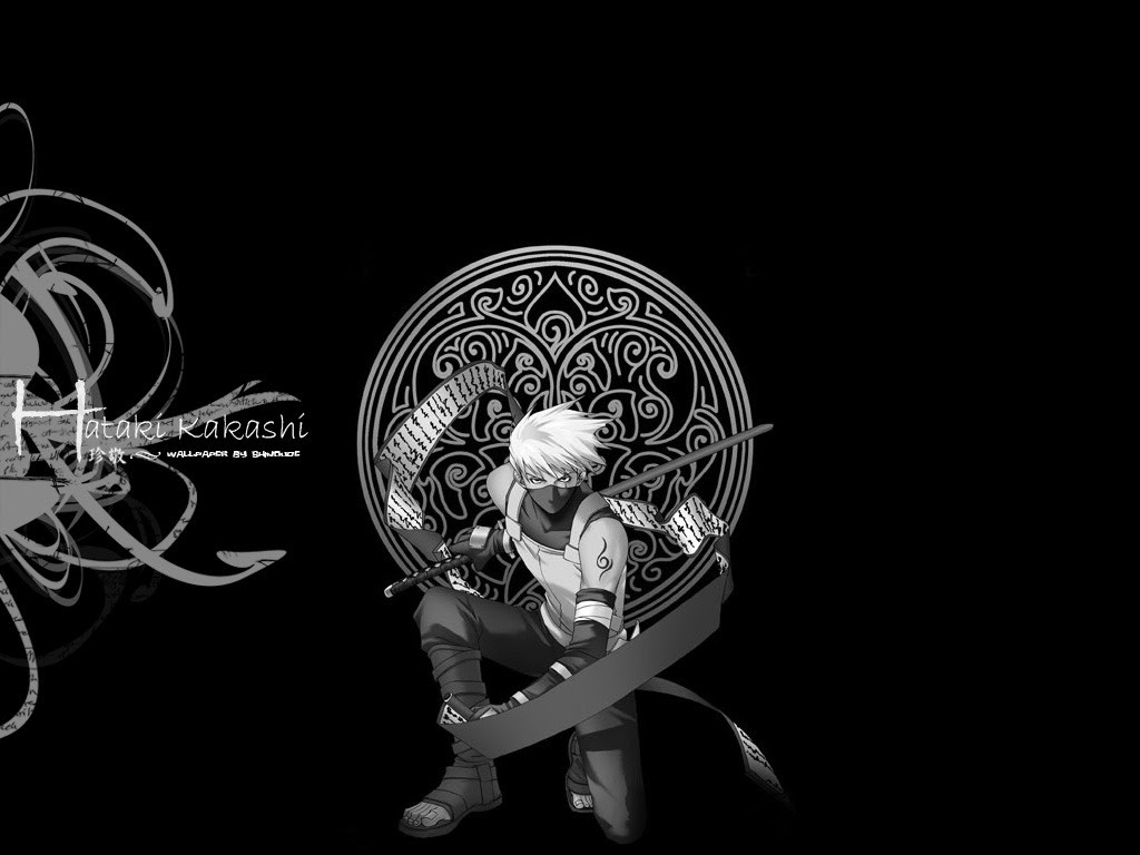 Naruto Wallpaper Black And White Anbu Kakashi Minitokyo