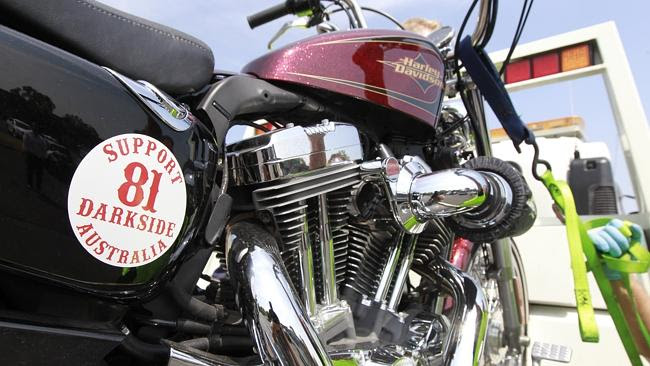 A motorcycle seized at the Darkside chapter's Boronia clubhouse coinciding with Khodr's a