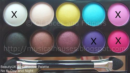 BeautyUK Eyeshadow Palette Day and Night