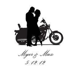 Dirt Bike Couple Wedding Cake Topper DirtBike Cake Topper