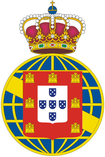 Ficheiro:Coat of arms of the United Kingdom of Portugal, Brazil and the Algarves.svg