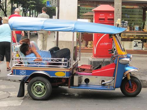 Tired Tuk Tuk driver
