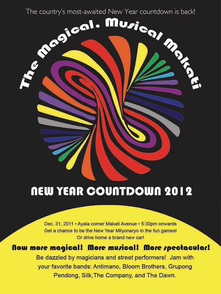Makati New Year Countdown Poster