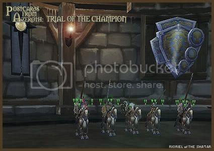 Postcards from Azeroth: Trial of the Champion, by Rioriel Whitefeather
