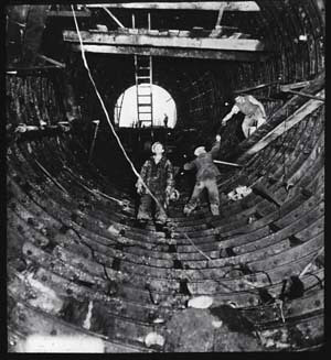 Escalator shaft under construction