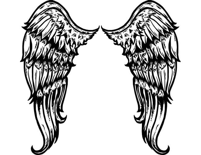 Large Tribal Angel Wings Tattoo Tattoomagz