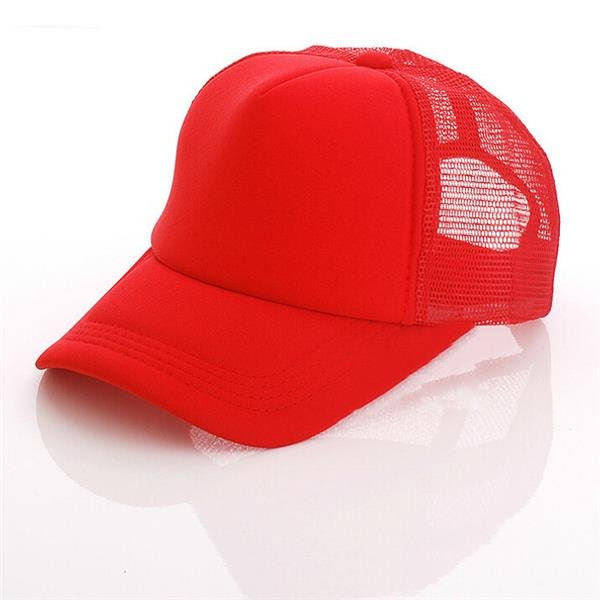 Men Women Plain Color Baseball Cap Solid Trucker Mesh Blank Curved Visor Adjustable Hat