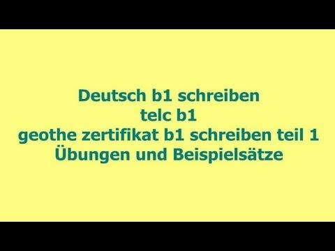 Deutsch Themen Deutsch B1 Schreiben übungen Und Beispielsätze