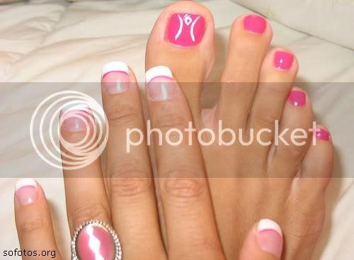 Unhas decoradas pés e mãos