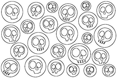 Coloriage Têtes De Mort Pop Art Coloriages à Imprimer Gratuits