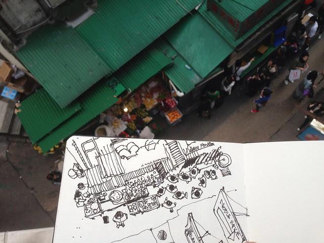Sketching with my students @ Central HongKong