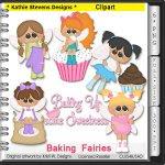 Baking Fairies Clipart - CU
