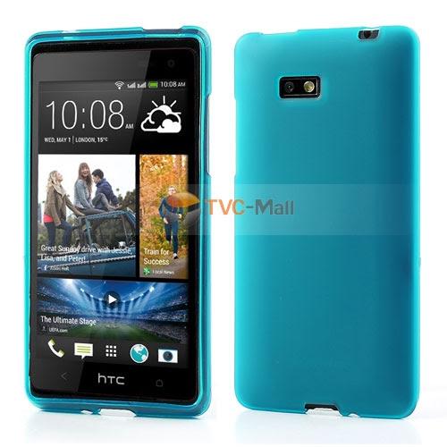 Baby Blue Matte Flexible TPU Shell Case for HTC Desire 600