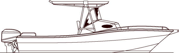 Download Center Console Boat Outline Clip Art Library