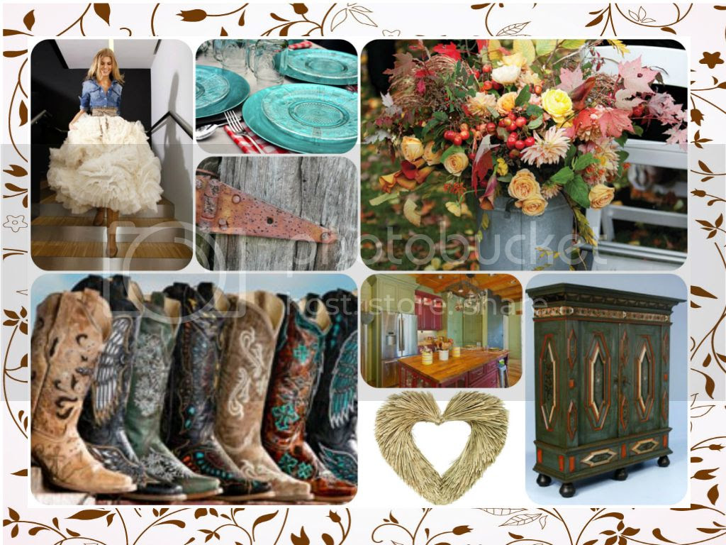 Country Rustic Chic mixed media challenge