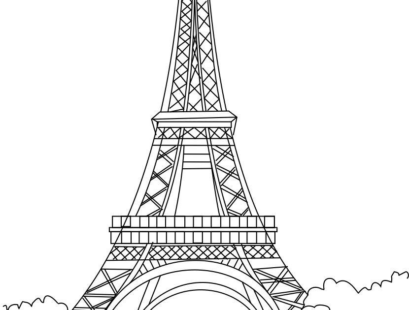 Free Printable Eiffel Tower Coloring Pages For Kids ...