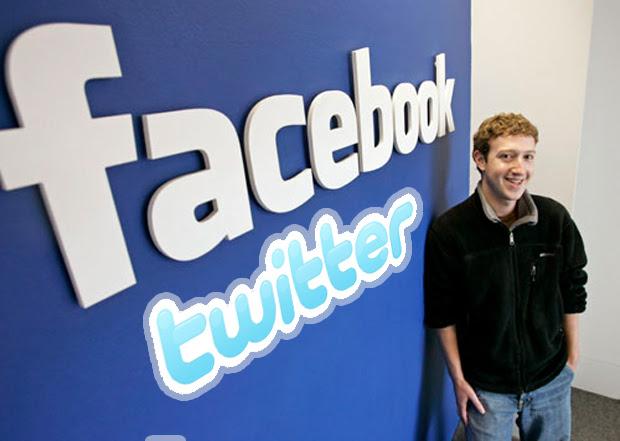 Zuckerberg Facebook Twitter