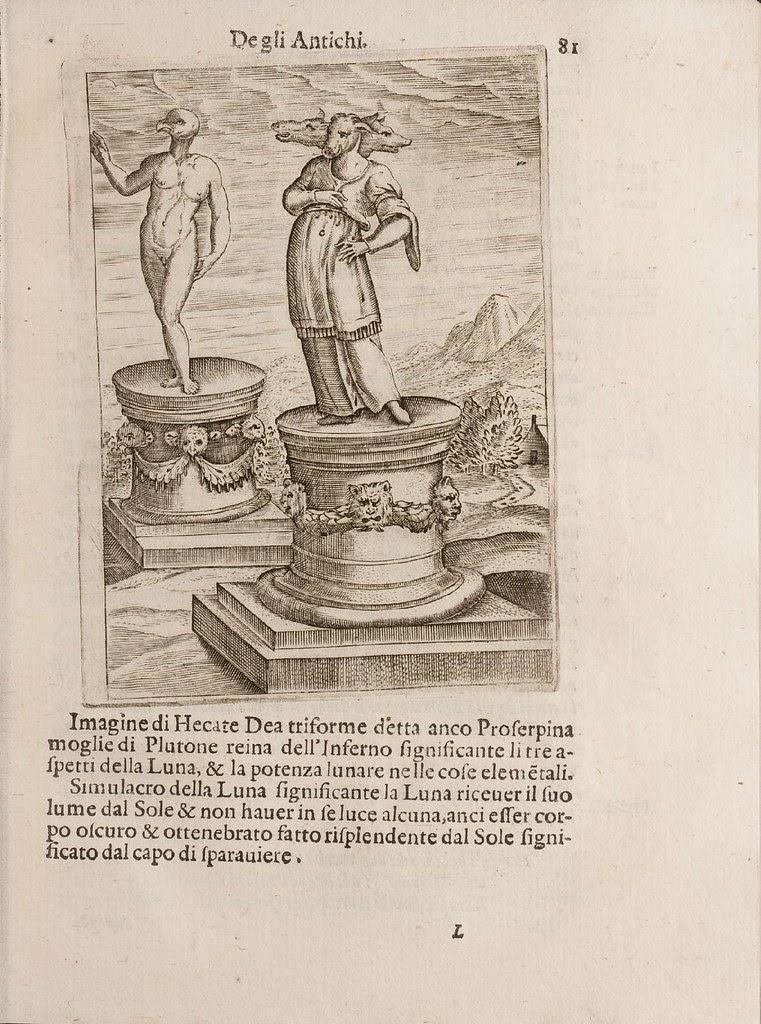 cartari's depiction of ancient gods
