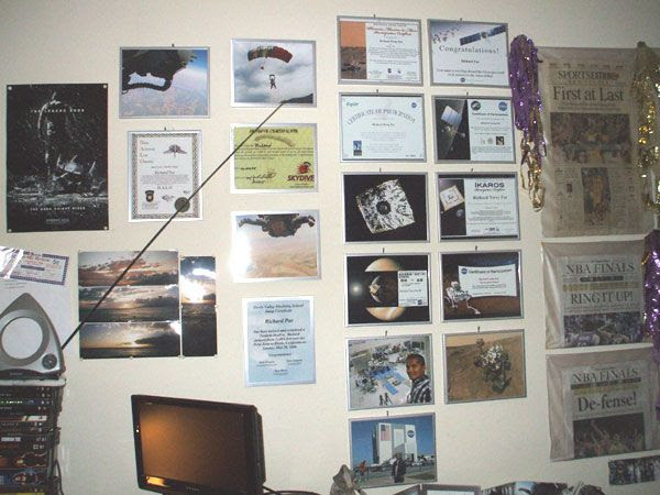 My Air & Space Wall of Fame...with the SoCal Sports Wall of Fame partially visible.