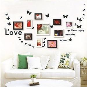 Amazon.com - Lovely Fluttering Butterflies Photo Wall creative DIY ...